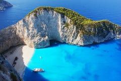 Navagio Beach, Zakynthos. Navagio Beach in Zakynthos, Greece Royalty Free Stock Images