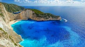Navagio Beach in Zakynthos. Greece stock images