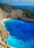 Navagio Beach in Zakynthos Royalty Free Stock Photo