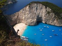Navagio beach Stock Image