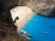 Navagio beach Royalty Free Stock Photography