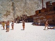 Navagio Beach, Zakynthos, Greece Royalty Free Stock Photos