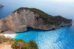 Navagio Beach, Zakynthos, Greece Stock Photography