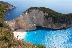 Navagio Beach, Zakynthos, Greece Royalty Free Stock Images