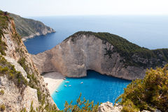 Navagio Beach, Zakynthos, Greece Stock Photos