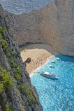 Navagio Beach, Zakynthos, Greece Stock Images