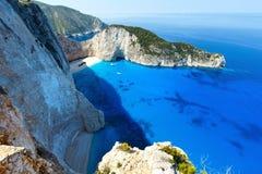 Navagio beach (Zakynthos, Greece) Royalty Free Stock Photos