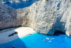 Navagio beach (Zakynthos, Greece) Royalty Free Stock Photography