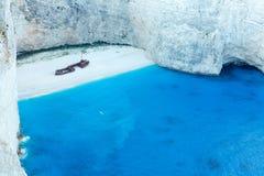 Navagio beach (Zakynthos, Greece) Royalty Free Stock Image