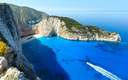 Navagio beach (Zakynthos, Greece) Royalty Free Stock Images