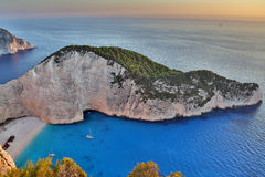 Navagio beach, Zakynthos Island, Greece Stock Photos