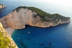 Navagio beach, Zakynthos Island, Greece Stock Images