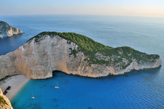 Navagio beach, Zakynthos Island, Greece Royalty Free Stock Photo