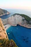 Navagio beach, Zakynthos Island, Greece Royalty Free Stock Image