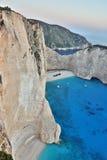 Navagio beach, Zakynthos Island, Greece Royalty Free Stock Photography