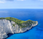 Zante. Navagio beach in Zakynthos Island, Greece, Ionian sea Stock Images