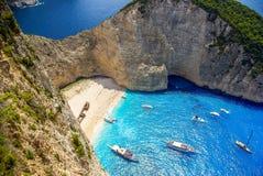 Navagio beach, Zakynthos island in Greece. Stock Image