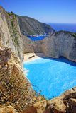 Navagio Beach  on Zakynthos Island at sunset, Greece Stock Images