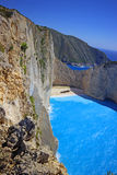 Navagio Beach  on Zakynthos Island at sunset, Greece Royalty Free Stock Photography