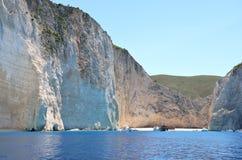 Navagio beach at Zakynthos Stock Photo