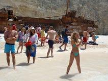 Navagio Beach, Zakynthos Stock Photos