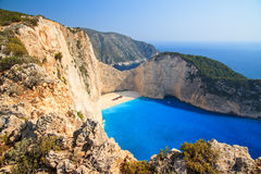Navagio cliffs Royalty Free Stock Photo