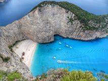 Navagio plaża Shipwreck plaża - Zakynthos - zdjęcia stock