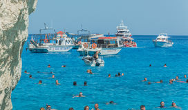 Navagio plaży Zakynthos Ionian wyspy Fotografia Royalty Free