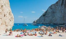 Navagio plaży Zakynthos Ionian wyspy Zdjęcia Stock