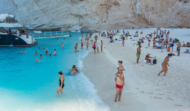Navagio plaży Zakynthos Ionian wyspy Zdjęcie Royalty Free