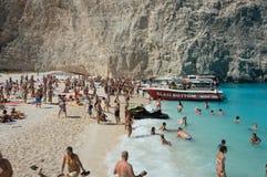 Navagio plaży Zakynthos Ionian wyspy Obraz Royalty Free