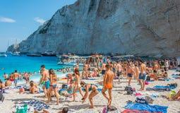 Navagio plaży Zakynthos Ionian wyspy Fotografia Stock
