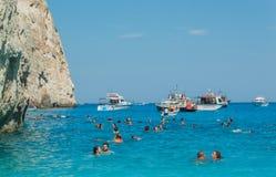 Navagio plaży Zakynthos Ionian wyspy Obrazy Royalty Free