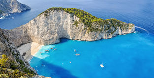 Navagio shipwreck beach, Zakynthos, Greece Royalty Free Stock Photos