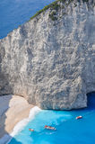 Navagio shipwreck beach, Zakynthos, Greece Royalty Free Stock Images