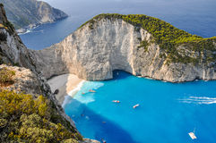Navagio shipwreck beach, Zakynthos, Greece Royalty Free Stock Photo