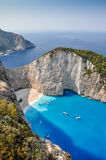 Navagio shipwreck beach, Zakynthos, Greece Stock Photo