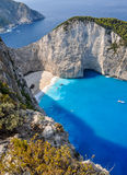 Navagio shipwreck beach, Zakynthos, Greece Royalty Free Stock Image