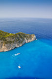 Navagio shipwreck beach, Zakynthos, Greece Royalty Free Stock Photography