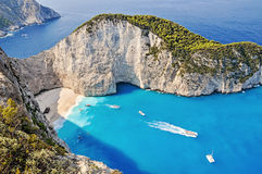 Navagio shipwreck beach, Zakynthos, Greece Stock Image