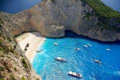 Navagio - Shipwreck Beach in Zakynthos Island Royalty Free Stock Photos