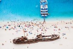 Navagio Shipwreck Stock Photo