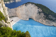 Navagio Strand, Zakynthos Griechenland stockfotografie
