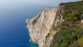 Navagio strandpanorama, Zakynthos, Grekland Royaltyfria Bilder