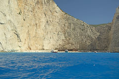 Navagio, Zakynthos-Insel Stockfotos