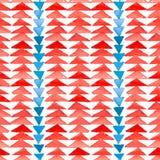 Navajo aztec tekstylnej inspiraci bezszwowy wzór Miejscowy americ Fotografia Royalty Free