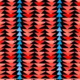 Navajo aztec tekstylnej inspiraci bezszwowy wzór Miejscowy americ ilustracja wektor