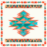 Navajo aztec textile inspiration pattern. Native american indian Royalty Free Stock Photo