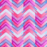 Navajo Aztec Textile Inspiration Watercolor Pattern. Native Amer Royalty Free Stock Photo