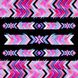 Navajo aztec textile inspiration watercolor pattern. Native amer Royalty Free Stock Image